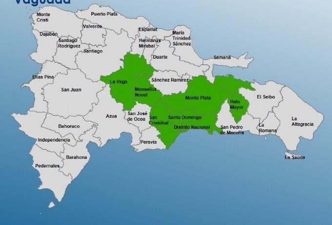 Gran Santo Domingo en alerta verde junto a otras cinco provincias por aguaceros