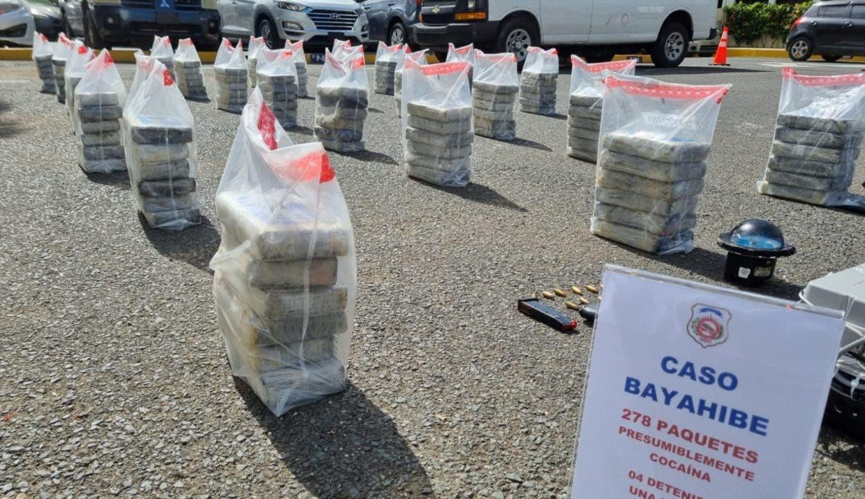 Más cocaína, ocupan otros 278 kilos; apresan 4 colombianos