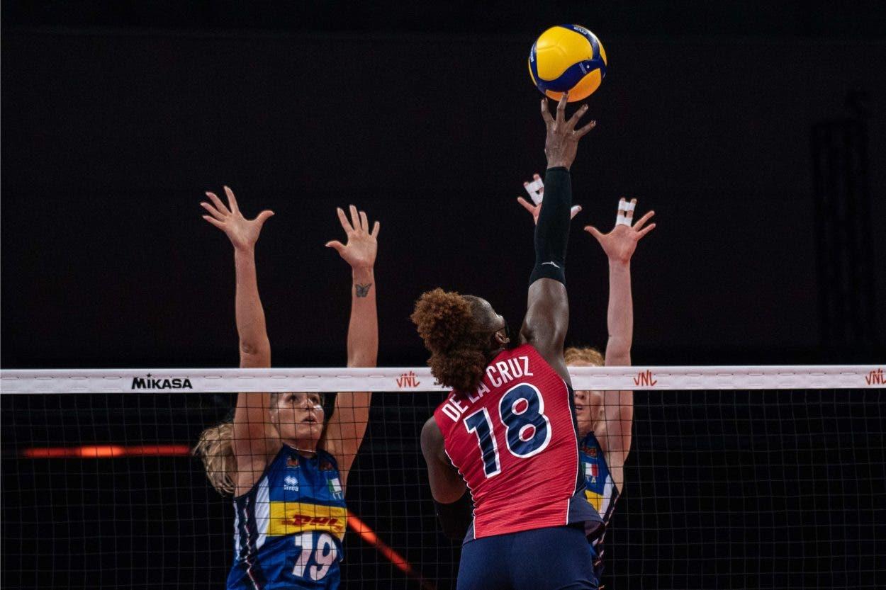 Las Reinas del Caribe derrotan 3-1 a Italia, logran tercer triunfo al hilo Liga Naciones