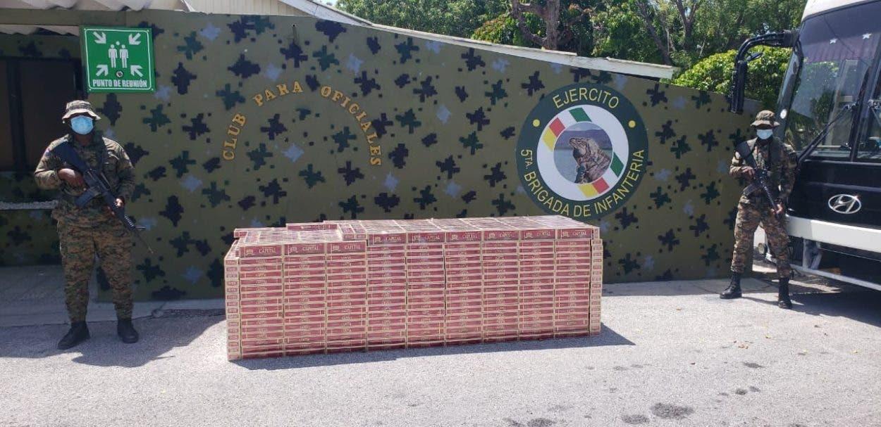 Ejército incauta dos cargamentos cigarrillos de contrabando en la frontera