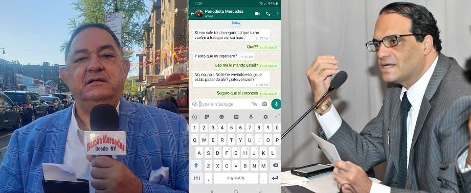 Periodista dice amenazan embajador con su nombre