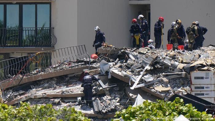 Sube a 12 los muertos por derrumbe en Miami-Dade