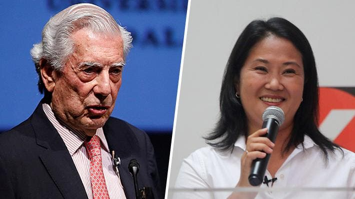 Vargas Llosa aún ve opciones de triunfo a Fujimori en presidenciales de Perú