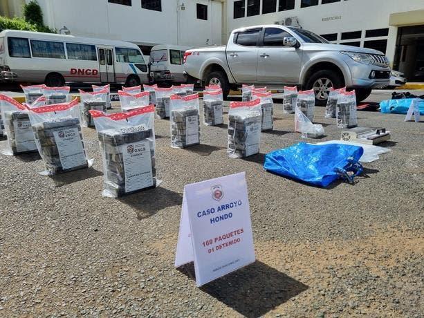 Ocupan 169 paquetes de cocaína en Arroyo Hondo