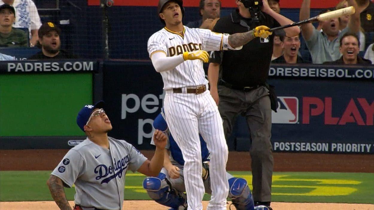 Jonrón de Manny Machado  guía Padres sobre Dodgers