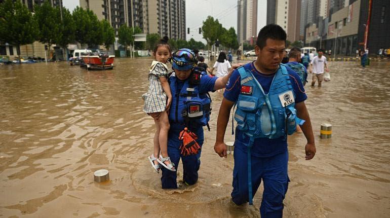 Fuertes lluvias en la provincia china de Henan dejan 376.000 evacuados