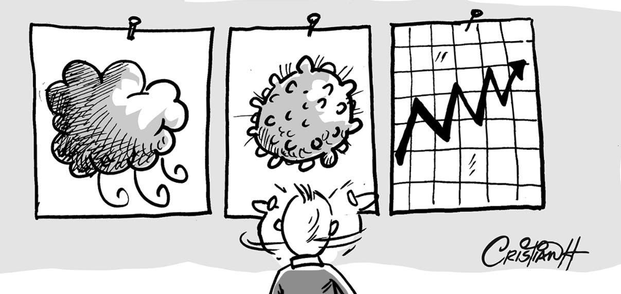 Pandemia, economía, ciclones