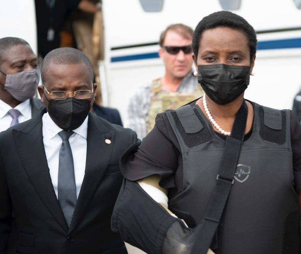 Viuda del presidente Jovenel Moise regresa a Haití