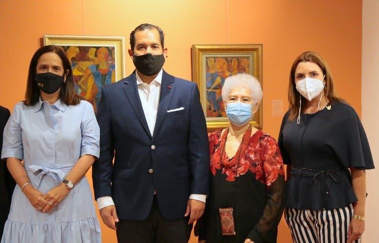 Cuerpo Consular visita exposición de Paul  Giudicelli