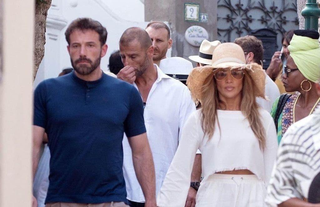 Jennifer López y el actor Ben Affleck pasan unos días de vacaciones en la paradisíaca isla italiana de Capri