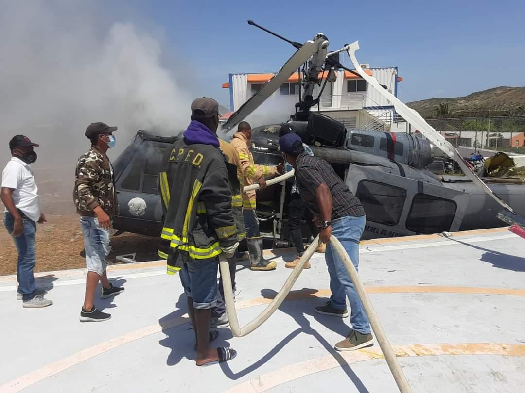 Helicóptero FARD se precipita a tierra en Jimaní