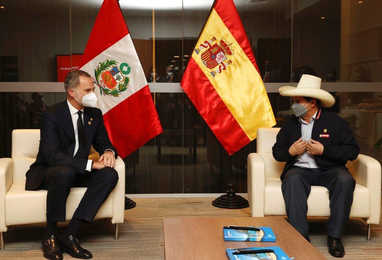 Rey Felipe VI se reunió con presidente electo Perú