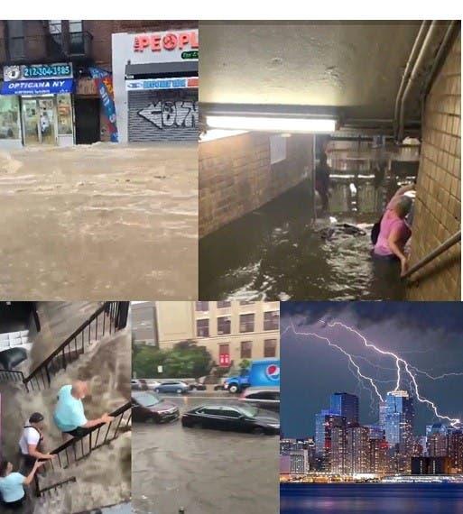 Efectos tormenta Elsa semiparaliza ciudad NY