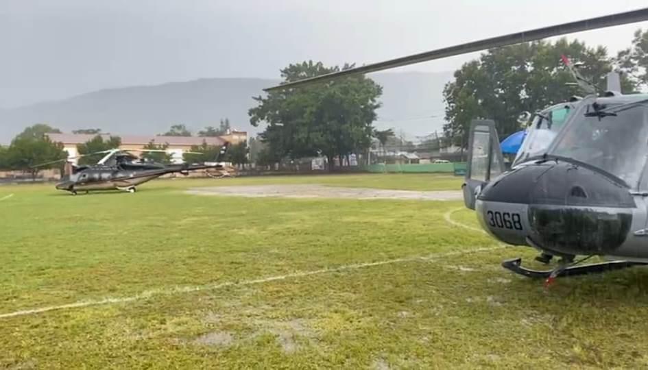 Helicóptero en que viajaba Abinader aterriza de emergencia