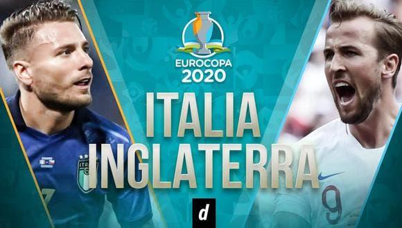 Italia vs. Inglaterra en final Eurocopa