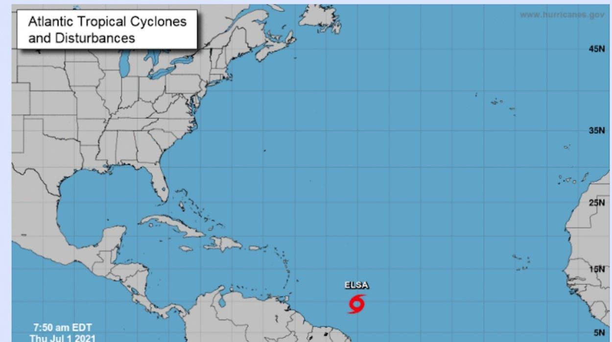 Elsa se convierte en huracán