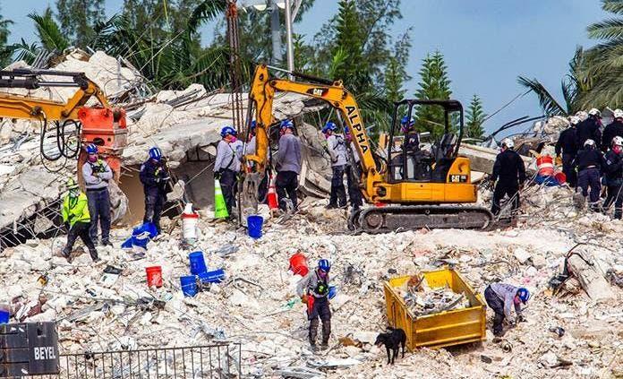 Encuentran 10 cuerpos más en edificio derrumbado en Miami