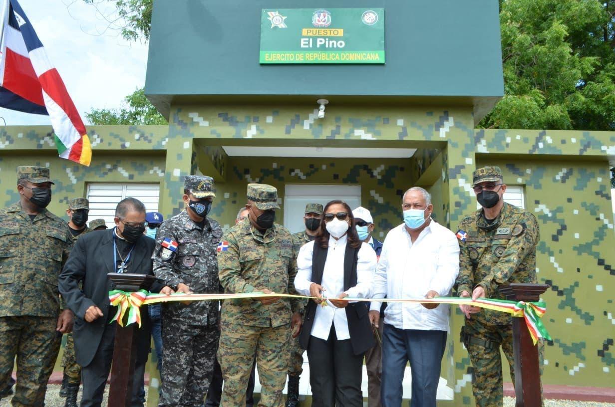 Ejército inaugura puesto militar en El Pino Dajabón