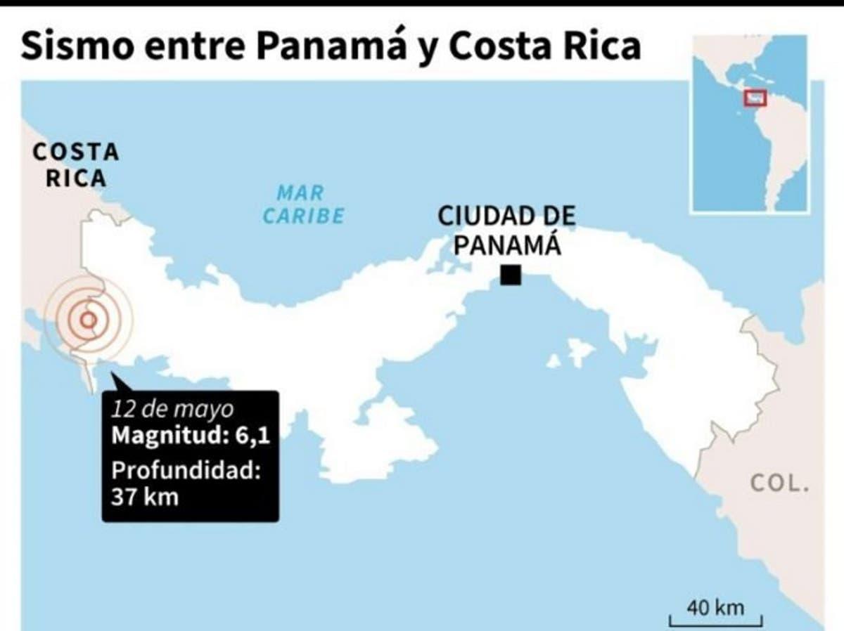 Un sismo de magnitud 6,4 sacude zonas de Panamá