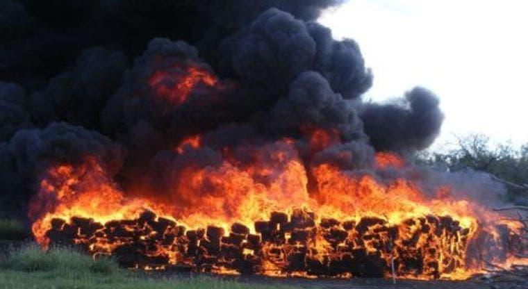 Más de 14 mil kilos de drogas incinerados en este año