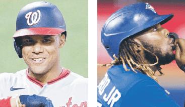 Soto y Guerrero Jr. lideran en promedio de embasarse