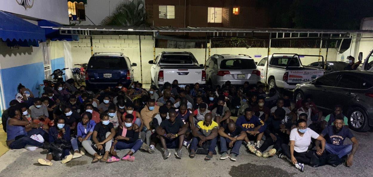 Haitianos detenidos