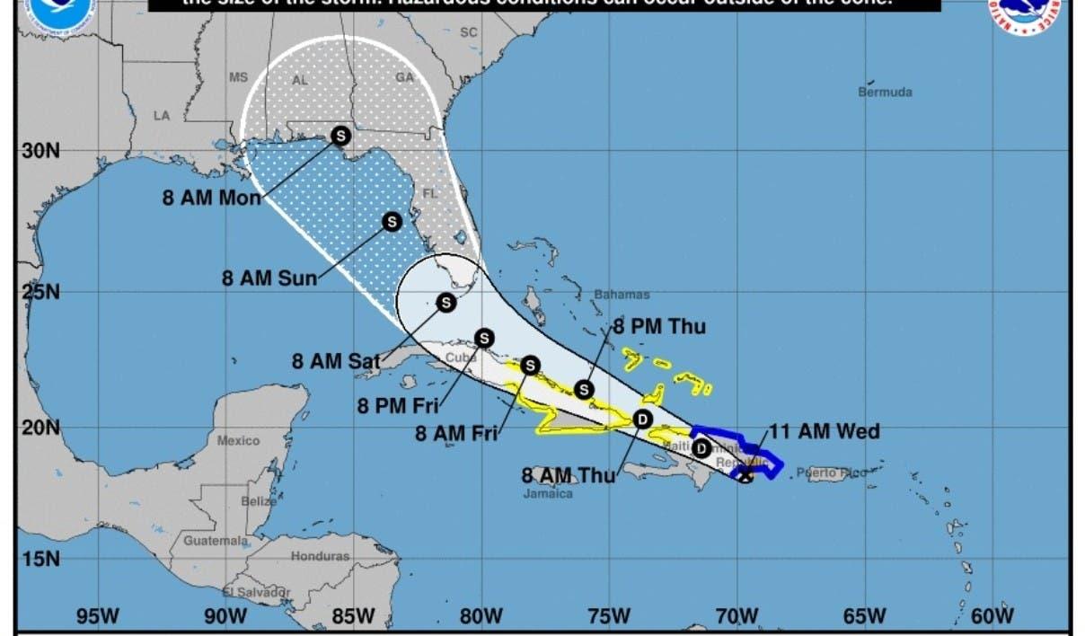 RD bajo alerta total por tormenta Fred