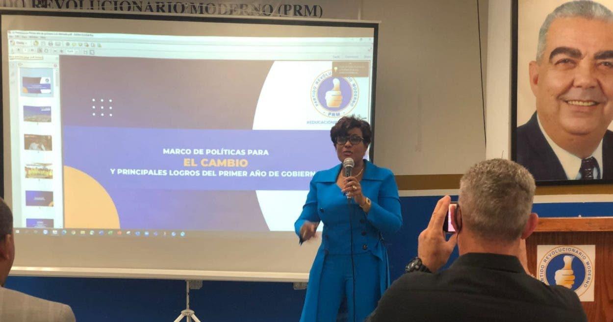Josefa Castillo destaca recuperación del país en el primer año de gobierno