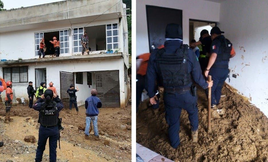7 muertos y 3 desaparecidos por deslaves en  Veracruz