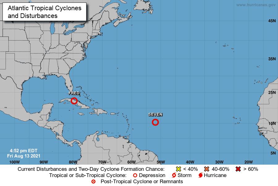 Se forma ciclón 7; tocaría RD entre domingo y lunes