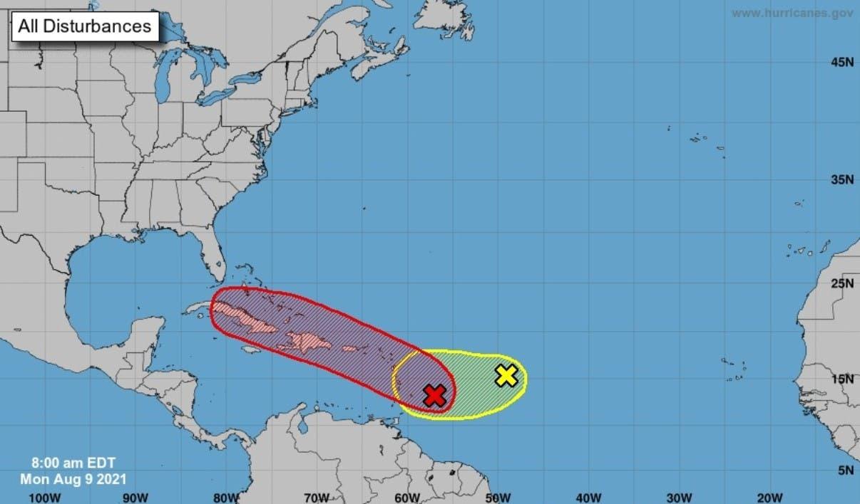 Onamet vigila dos fenómenos en Caribe