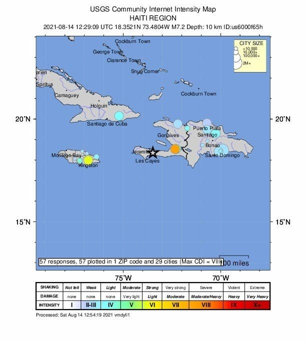 "Alerta de tsunami y ""probable"" alto número de víctimas por sismo en Haití"