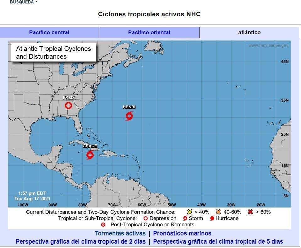 Grace descarga lluvias en Jamaica y Cuba y Henri se refuerza en el Atlántico