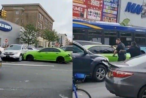 Conductor huyendo de Policía atropella 14