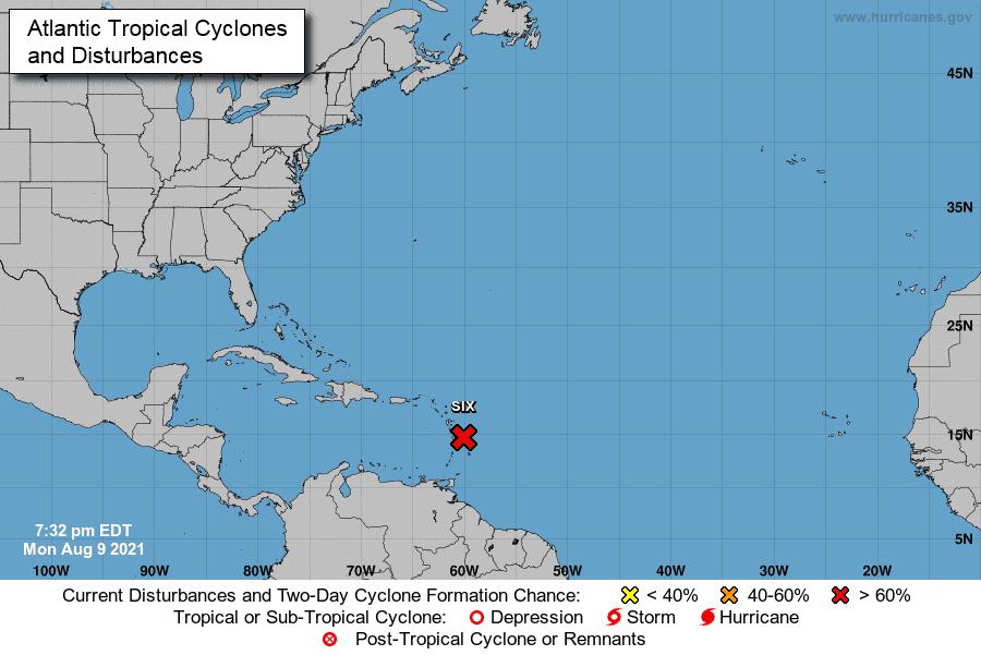 Emiten alertas por tormenta en el Caribe