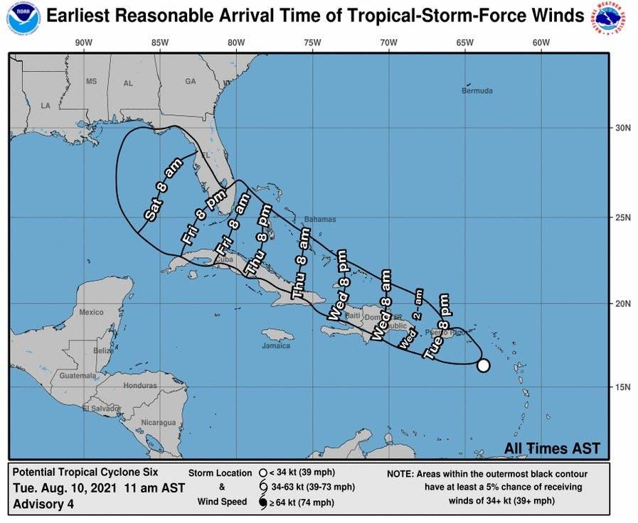 Aumentan a 20 provincias en alertas ante posible ciclón mañana