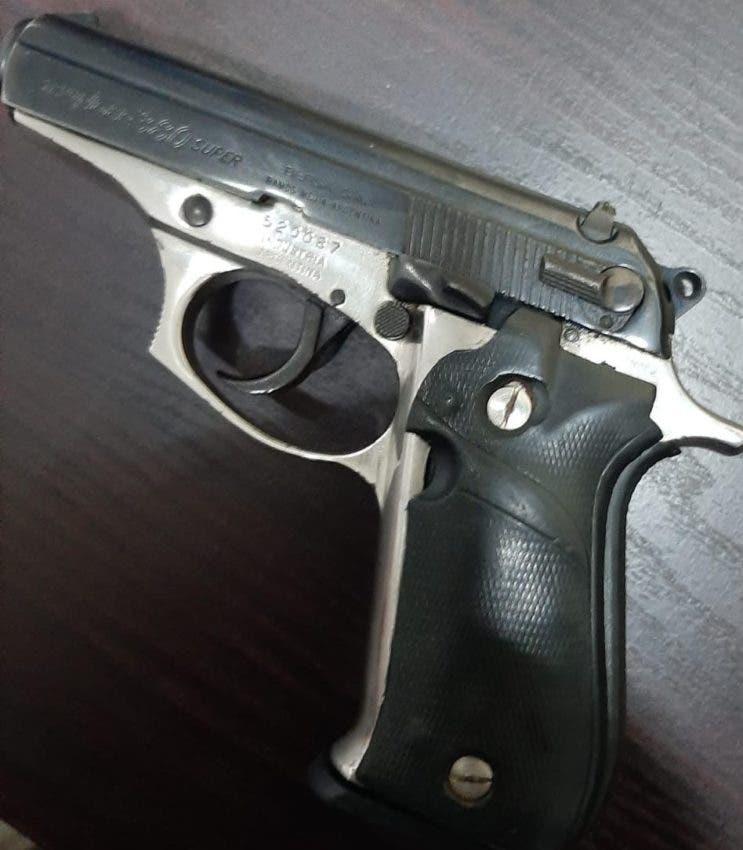 Esta es la pistola con la que el Reyes habría matado al joven Tejada Moscoso.