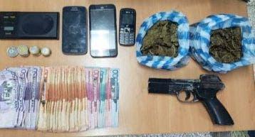 Detienen hombre por porte ilegal de arma y venta marihuana