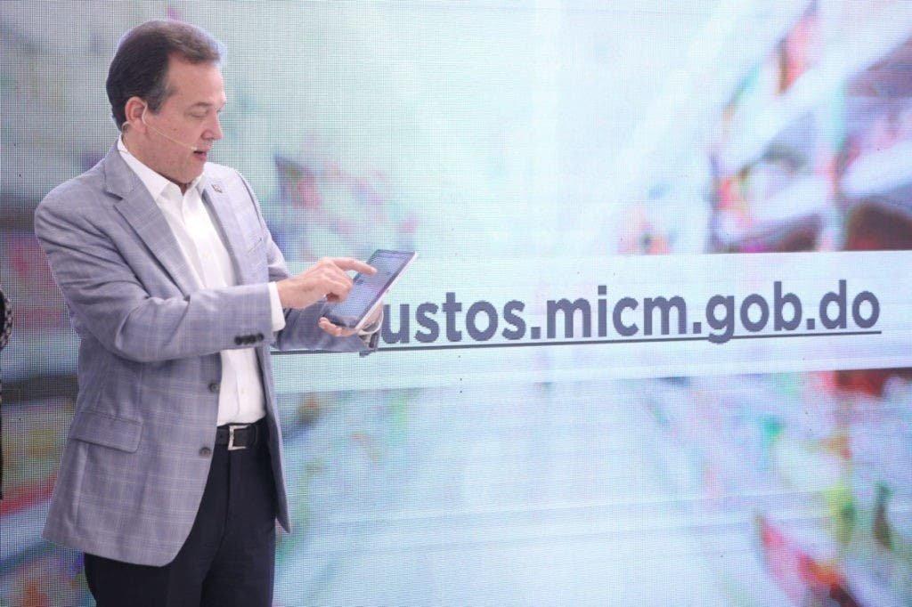 MICM presentó aplicación Precios Justos, a través de la cual los usuarios podrán ver y comparar los precios de los alimentos de la canasta familiar
