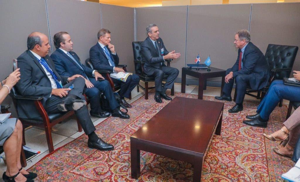 Ayer el presidente Luis Abinader sostuvo  sendas reuniones con los presidentes de Guatemala y Ecuador, en el marco de la Asamblea General de las Naciones Unidas.