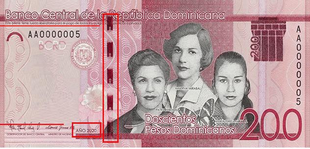 Banco Central emite nuevo billete de RD$200
