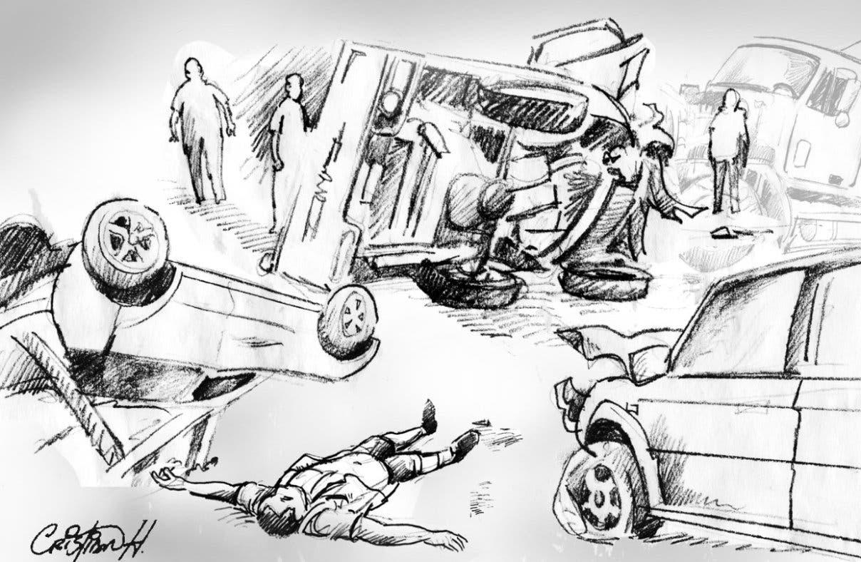 Dos muertos y tres heridos deja choque