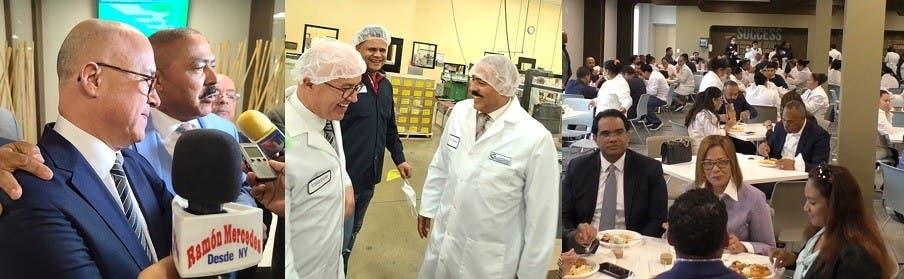 Domínguez Brito visita cientos de trabajadores en NJ
