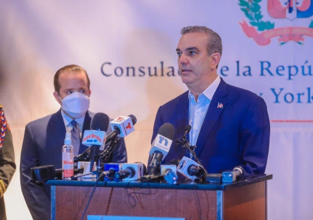 El presidente Luis Abinader en una de las actividades que realiza en Nueva York, donde participará en la Asamblea General de la ONU.