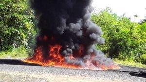 Las drogas fueron quemadas durante un acto en el recinto del Ejército Dominicano, en Pedro Brand