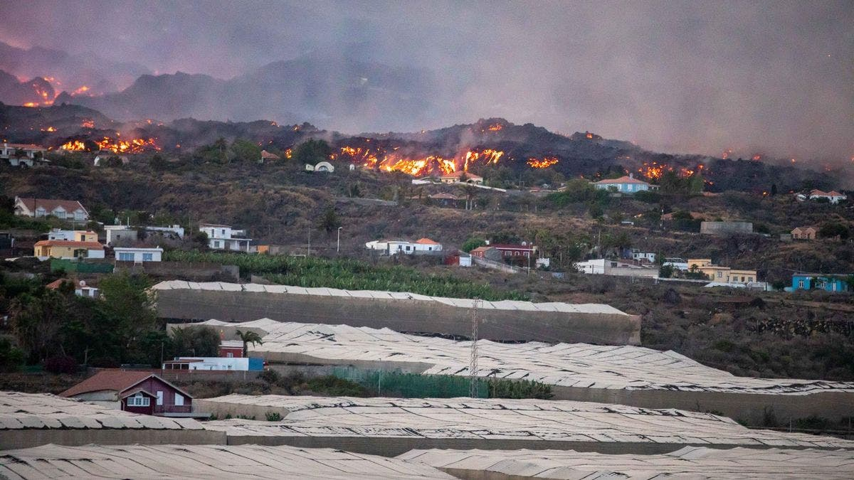 El corazón platanero de la isla de La Palma, bajo la imagen de un bombadeo