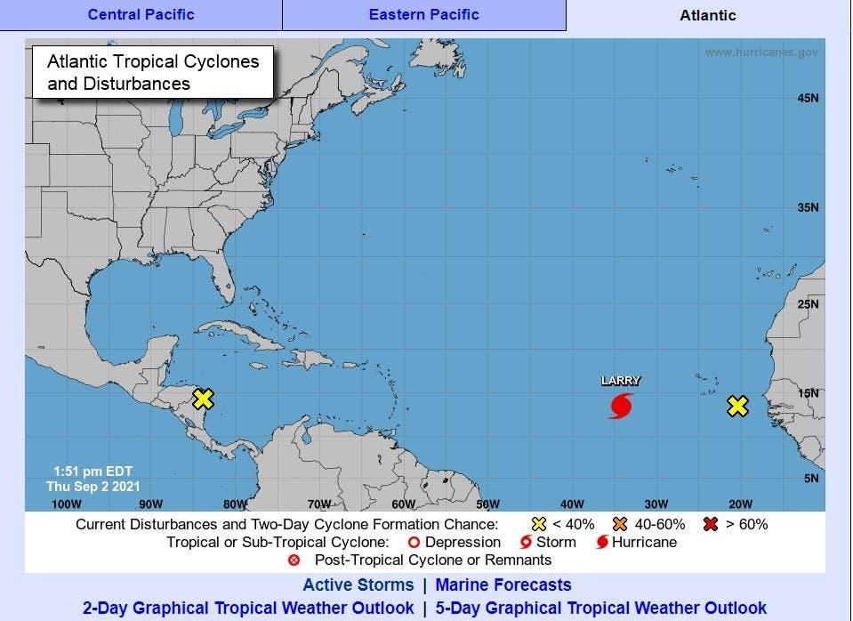 Aumenta potencia y tamaño de huracán Larry, pero aún sin amenazas a tierra