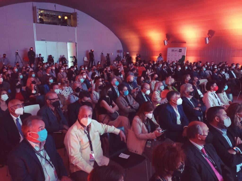 Aspecto del público que asistió a la apertura den Madrid, de Iberseries Platino Industria.