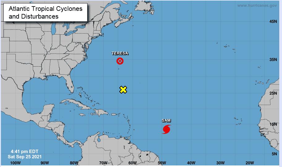 Sam se vuelve huracán de categoría 4 en el Atlántico