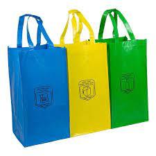 Las bolsas para el reciclaje en el hogar.